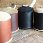 オイルレザー &スウェードODガス缶カバー(大:470/500サイズ)〔受注生産品〕