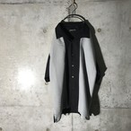 [used] big grey part designed shirt