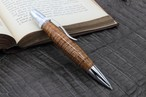 「神が宿る木 ハワイアンコア カーリー 特上 PTS0163」希少木の手作りボールペン♪ジェットストリーム芯対応