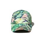 BOTANICAL PRINTED LONG VISOR CAP - GREEN