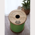 CAT SCRATCH STOOL ---picnic green---