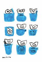 CATACANA [ポストカード]  ミズノマサミ  -もぐりたがる猫-