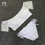 即納M【FlamingoBeach】lace off shoulder bikini