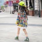 (KIDS)フラワーフードトレーナー フーディー 子供服 キッズパーカー 韓国ファッション
