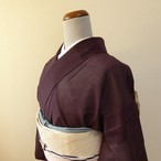 正絹 紗絽 チョコ色の夏着物