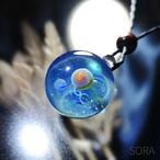 ガラスの惑星宇宙ペンダント/【訳あり、試作品】20210119-2
