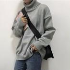 【tops】肌触りよくシンプルゆったりニットセーター