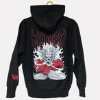 SKULL PUNCH HOODIE (Black×Red)