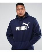 大きいサイズ【PUMA PLUS】プーマ・ロゴ パーカー ネイビー