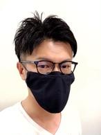 7/20 17時 6枚再入荷 メガネマスク ネイビー Lサイズ