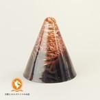 アセンションチャクラ(フット) ミニ円すい ブランデーアンバー(琥珀)【オルゴナイト】No.1