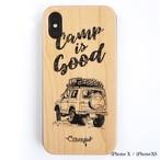 CAMPS iPhoneケース【CAMP is Good】Jimny wood 木製カバー