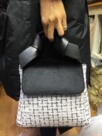 COCOリボンツイードバッグ ハンドバッグ ショルダーバッグ 韓国ファッション