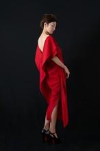 着物ドレス|PIGEON BLOOD RED Ⅰ