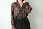 Calvin Klein open collar paisley blouse