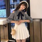【set】[単品注文]カジュアルチェック柄シャツ+スカートセットアップ21083244