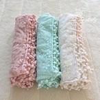 3色お花刺繍ラップキレイなアースカラー3色