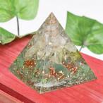 ピラミッド型Ⅱ アベンチュリン オルゴナイト プリザーブドフラワーコラボ