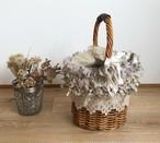 裂き編みアレンジ  ワンハンドルかごバッグ L