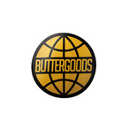 BUTTER GOODS WORLDWIDE LOGO STICKER YELLOW