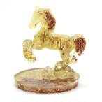 馬型 アラゴナイト&シトリンオルゴナイト 置物 財運をもたらす馬モチーフ