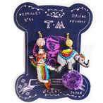 刺繍ピアス/刺繍イヤリング Circus(cat&elephant)