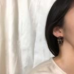 予約注文商品 レオパードマットカールピアス ピアス 韓国ファッション