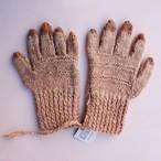 草木染め 手編みの手袋 無地③