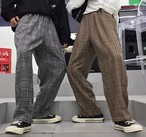 韓国ファッション タータンチェック パンツ レディース メンズ ズボン ストリート 原宿【to-06】