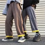 【送料無料】ユニセックスな雰囲気♡ チェック柄パンツ レトロ カジュアル