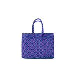 MERCADO BAG ROMBO  - Purple × Navy (XXS)