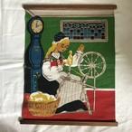 糸車と女性の布