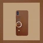 ボタン iPhone xs xr 11proケース 手持ちベルト付き 大人 センス 海外セレブ愛用のスマホケース☆