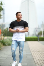 ONE-X LOWER CHEST BLOCKING T-SHIRT BLACK