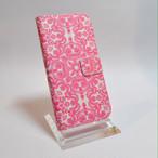 iPhone6/6s 手帳型ケース ピンクレース柄 早い者勝ち!!在庫処分
