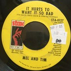 Mel And Tim  ‎– Starting All Over Again / It Hurts To Want It So Bad