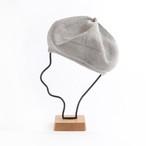 mature ha./beret top gather linen/grey