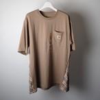 Remake carhartt × BURBERRY ベージュ ポケットTシャツ
