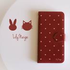 カワイイ猫の手帳型スマホケース★iPhone5/5s/SE/6/6s/7/8/X/XS/androidのS・Mサイズ