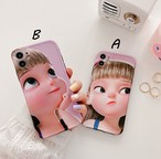 Cute girl iphone case