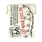 【即納】巾着袋 アメリカンロゴ ROUTE66 ルート66 z-037-route