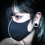「stop corona mask」blak× white プリント有り