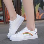 【shoes】虹合わせやすい刺繡入り新作トレンドスニーカー 23873088