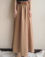 【SALE】vintage camel long skirt