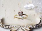 D様オーダー 原石のダイヤモンドのリング