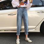 パンツ デニム ハイウエスト 韓国ファッション オルチャンファッション