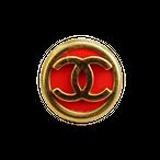 【VINTAGE CHANEL BUTTON】ココマーク ゴールド レッドミニ ボタン 10mm C-20001