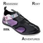 RSD202502 ロキシー サンダル レディース フットウェア アウトドア キャンプ 夏 海 ビーチ ADVENTURES 黒×紫系×白ロゴ 23 23.5 24 24.5 25 新作 ROXY