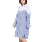 Flare Sleeve Fake Two Piece Dress 903