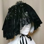 "「Aithēr ""Black""」 minori's handmade head-dress"